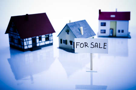 repossessing: Houses for sale Stock Photo