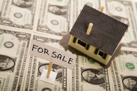 repossessing: House for sale   Stock Photo