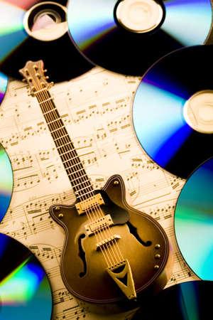 Notas Guitarra  Foto de archivo - 3273125