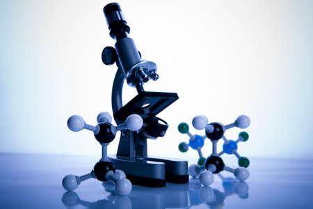 Microscope and atom Stock Photo - 3493562