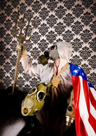 freak: American flag & Freak in the mask
