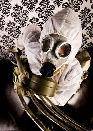 biochemical: Man in the mask Stock Photo