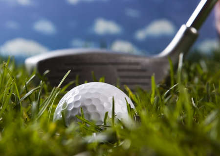 Golf, driver and ball Stock Photo - 3970344