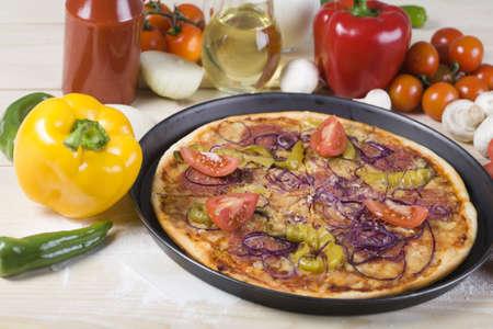 Tasty Italian pizza Stock Photo - 4608749