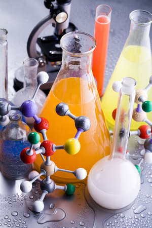 Biochemistry and atom  Stock Photo - 4608819