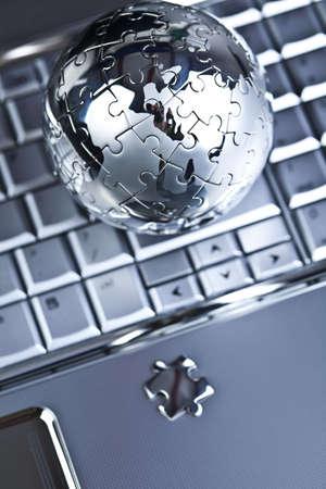 Globe and computer photo