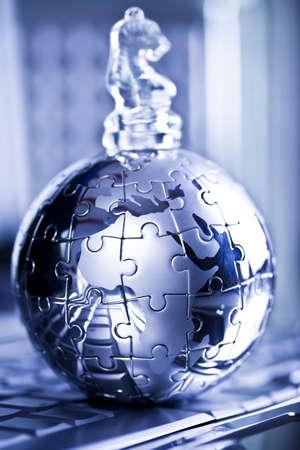 Glass chess             photo