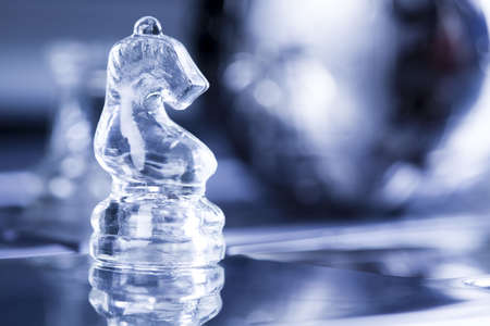 Glass chess             photo