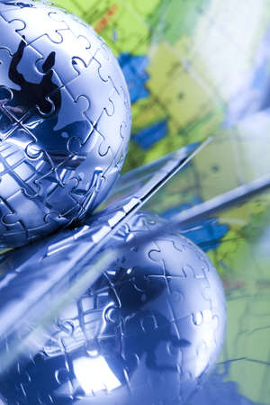 Planet earth from puzzle Stock Photo - 5096883