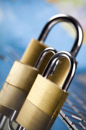 Padlock and notebook computer Stock Photo - 5096888