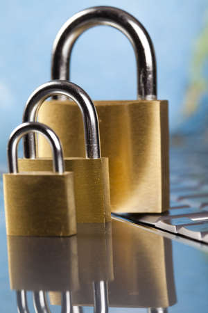 Locked mobile computer Stock Photo - 5094628