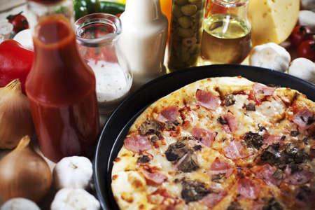 Pizza and italian kitchen photo