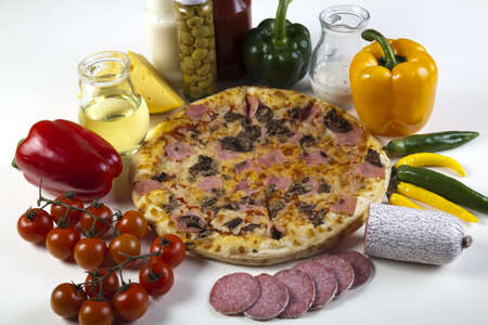 Vegetables with a pizza photo