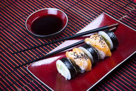susi: Japanese mix sushi  Stock Photo