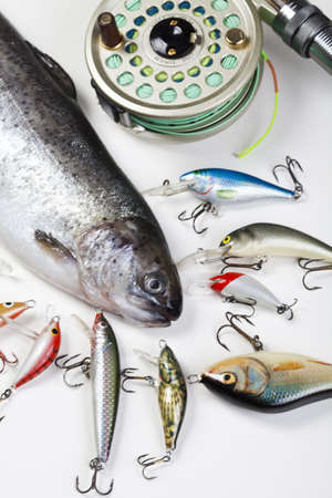 Collection of fly fishing Stock Photo - 5103817