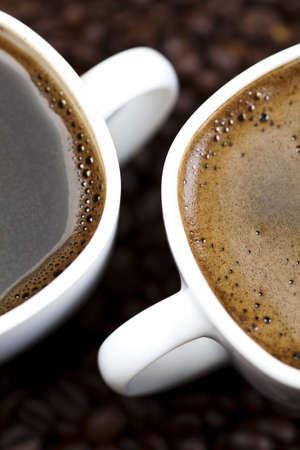 comida colombiana: Oscura y la leche caffee Foto de archivo