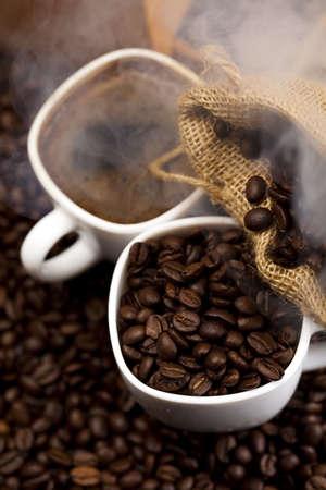 comida colombiana: Los granos de caf� Foto de archivo