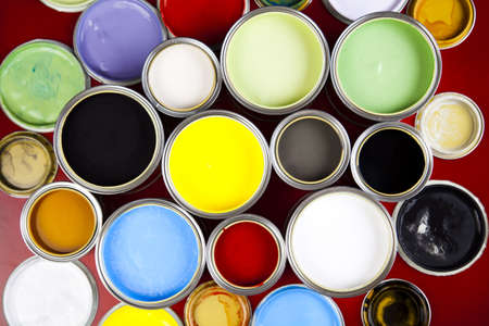 paint can: Decoration game Stock Photo