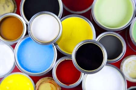 color image creativity: Latas Foto de archivo