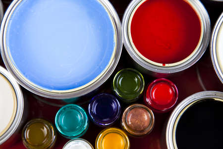 Colorful cans & paints Stock Photo - 5095389