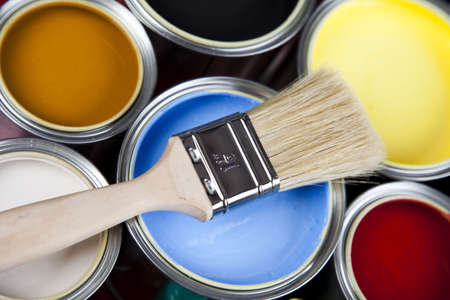 Colorful paint Stock Photo - 5094271