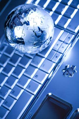 Chrome globe Stock Photo - 5095788