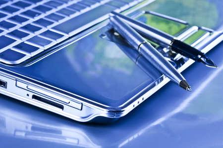Laptop & Ballpoint photo
