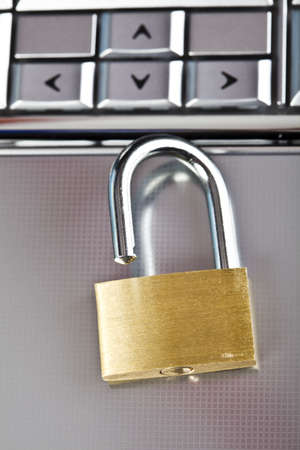 Locked mobile computer Stock Photo - 5095598