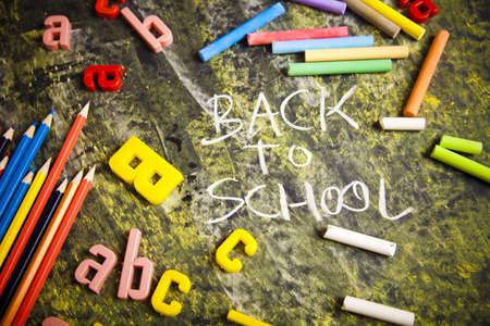 Inscription on a school chalkboard - back to school Stock Photo - 5427861