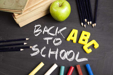School, classroom, blackboard Stock Photo