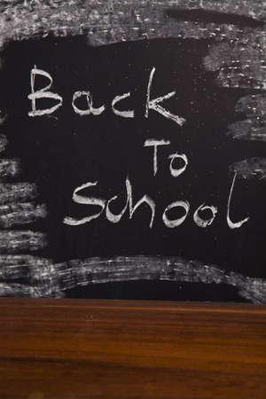 Back to school - inscription on blackboard  Stock Photo - 5427946