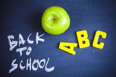 School blackboard and apple photo