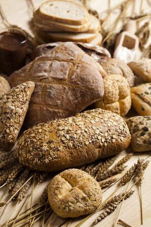 fresh slice of bread: Bread mix    Stock Photo