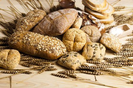 healthy grains: Bread