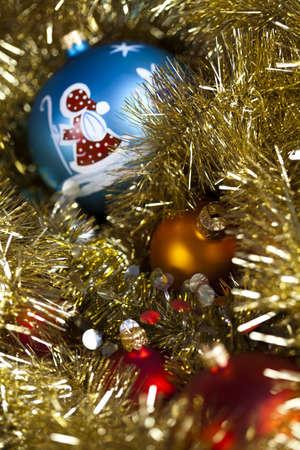 Santa Claus & Blue Christmas Bauble Stock Photo - 5418376