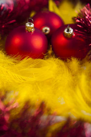 Red baubles as a symbol of Christmas Stock Photo - 5418391