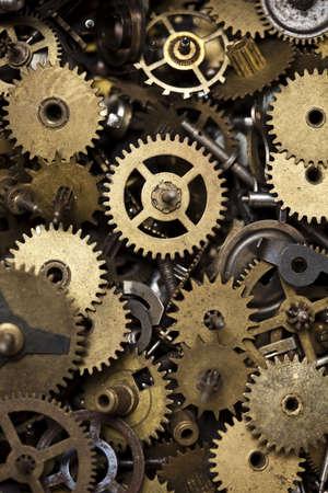 clock gears: Old clock machine
