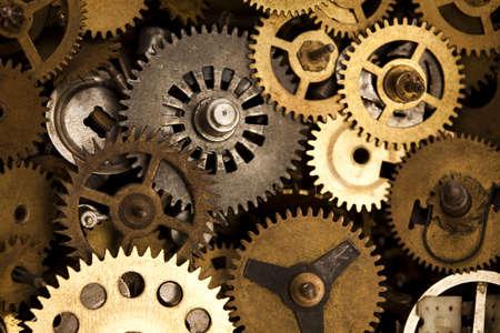 Macro detail of old gears photo