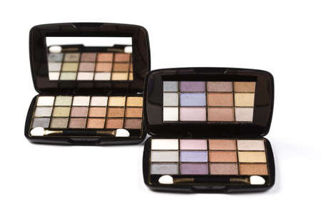 Colorful eyeshadows, accesories  photo