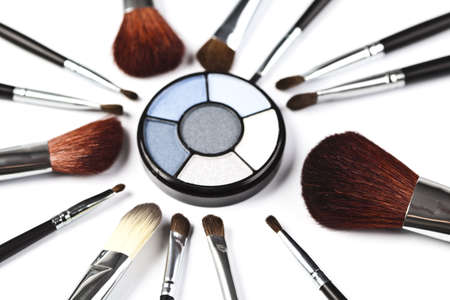 make-up poeder: Van eyeshadows  Stockfoto