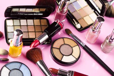 Set of make-up cosmetics  photo