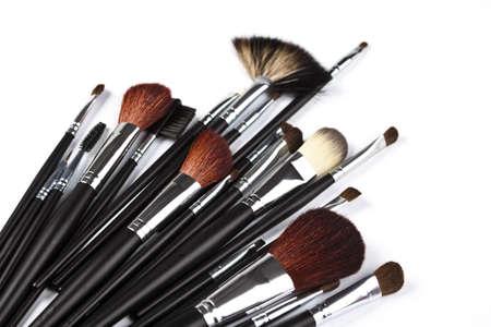 Set of professional makeup brushes on white background  Stock Photo - 5925847