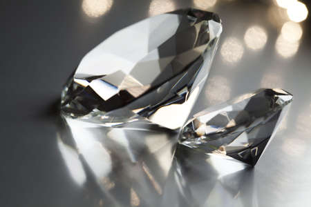 gemstones: Diamond - expensive stone  Stock Photo