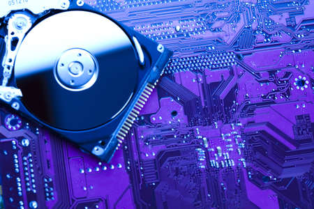 Hard disk background texture photo