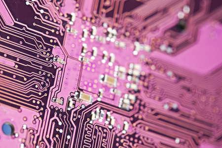 Electronic circuit close-up photo