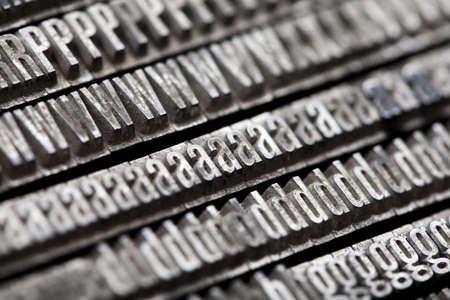Old metal movable typo Stock Photo - 6332940