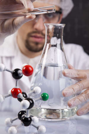 researching: Scientist Researching  Stock Photo