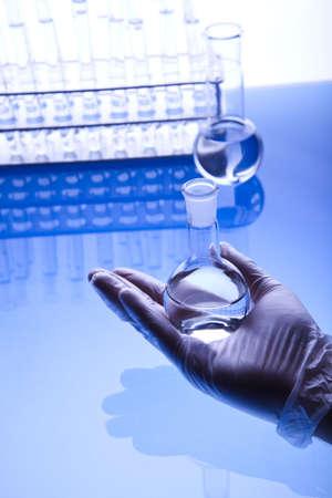 Male researcher in the laboratory  photo