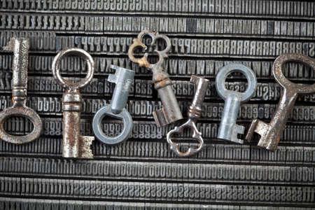 Key, typography, print Stock Photo - 6332993