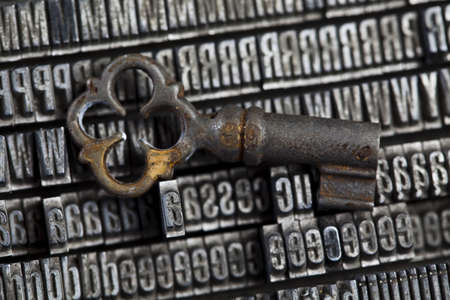Key, typography, print photo